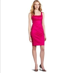 Calvin Klein Red Taffeta Cocktail Dress